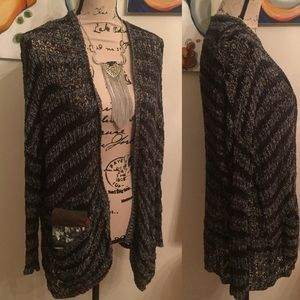 {Free People} long knit cardigan w/ pockets
